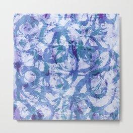 abstract stormy splashy texture (purplish/blue) Metal Print