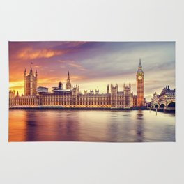 London Sunset Cityscape (Color) Rug