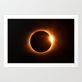 The Eclipse (Color) Art Print
