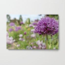 Monet's Positively Purple Flower Metal Print