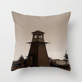 Cabot Beach Lighthouse Throw Pillow