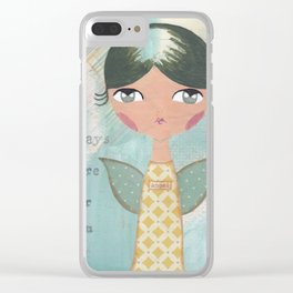 She is always there for you Clear iPhone Case