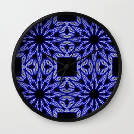 Blue & Black Electric Color Burst Wall Clock