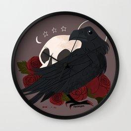 Familiar: Raven Wall Clock