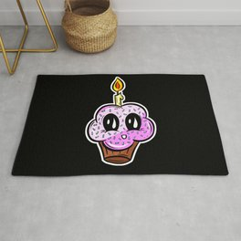 Sweet Cupcake Muffins - Cute Pinky Cupcake Cartoon Rug