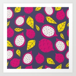 Pink Dragonfruits Art Print