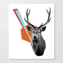 Geometric Stag Canvas Print