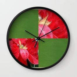 Mottled Red Poinsettia 2 Blank Q5F0 Wall Clock