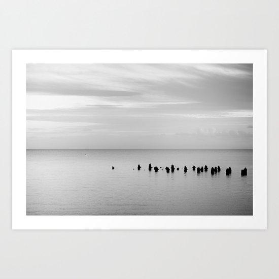 BEACH DAYS XXVIII BW Art Print