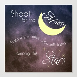 Motivational Les Brown Shoot for the Moon Canvas Print