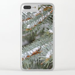 Softly, One Winter Day Clear iPhone Case