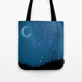 Night Forest Tote Bag