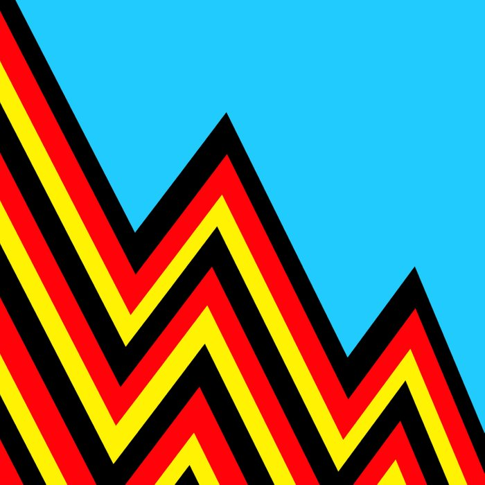 Black And Red And Yellow......And Blue Duvet Cover