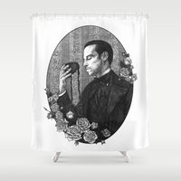moriarty Shower Curtains featuring SHERLOCK | POTO AU - Jim Moriarty by inferno92000