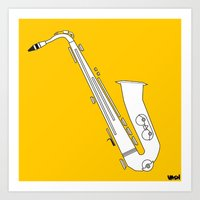saxophone Art Prints featuring Saxophone by VASH