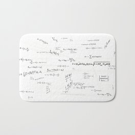 Mathspace - High Math Inspiration - Inverted Color Bath Mat