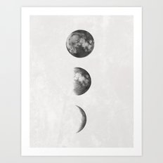 The Three Moons Art Print