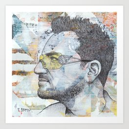 Bono - I Still Haven't Found What I'm Looking For Art Print