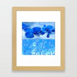 Blue Orchids Framed Art Print