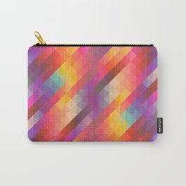 Abstract Colorful Decorative Squares Pattern Carry-All Pouch