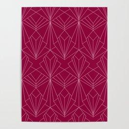 Art Deco in Raspberry Pink Poster