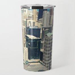 Chicago Buildings Color Photo Travel Mug