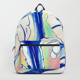 Plant in Blue Marker - Leaf of Life Miracle Leaf - Rainbow Colorful 2 Backpack