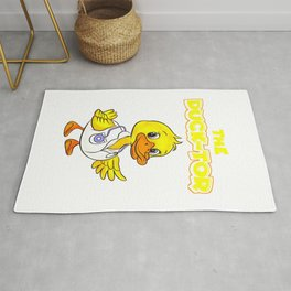 The Duck-Tor Cute Duck graphic Rug