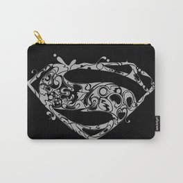 Superman logo grey Carry-All Pouch