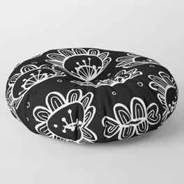Pollen (in Black & White) Floor Pillow