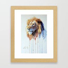 The Lion - watercolor Framed Art Print