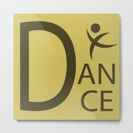 Yellow Dance Symbol Metal Print