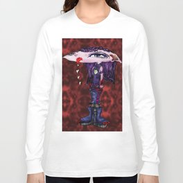 Pouty Kitty Yuk Kiss Long Sleeve T-shirt