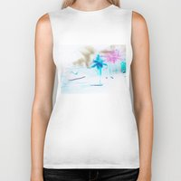 preppy Biker Tanks featuring Preppy Beach by EPART