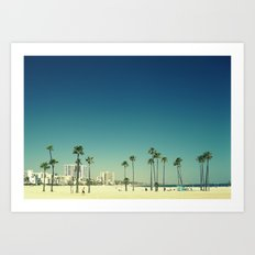 Summer Beach Blue Art Print