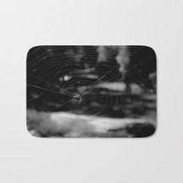 Spider Web Black White Bath Mat