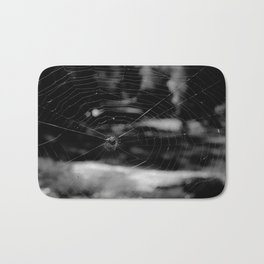 Spider Web Black White Bath Mat