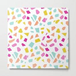 Bright Modern Terrazzo Vector Pattern Metal Print