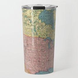 Vintage Map of North America (1903) Travel Mug