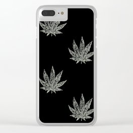 Sweet Leaf Blacklight 2 Clear iPhone Case