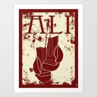 ali gulec Art Prints featuring ALI by FLIPO