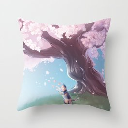 One Fine Spring Afternoon Throw Pillow