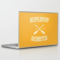 quidditch Laptop & iPad Skins featuring Hogwarts Quidditch Team: Hufflepuff by IA Apparel