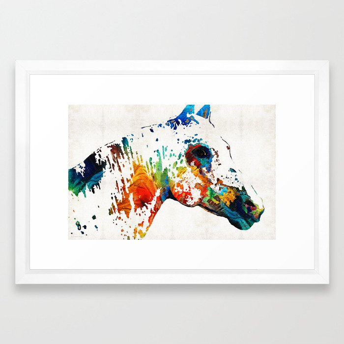 Colorful Horse Art - Wild Paint - By Sharon Cummings Framed Art ...