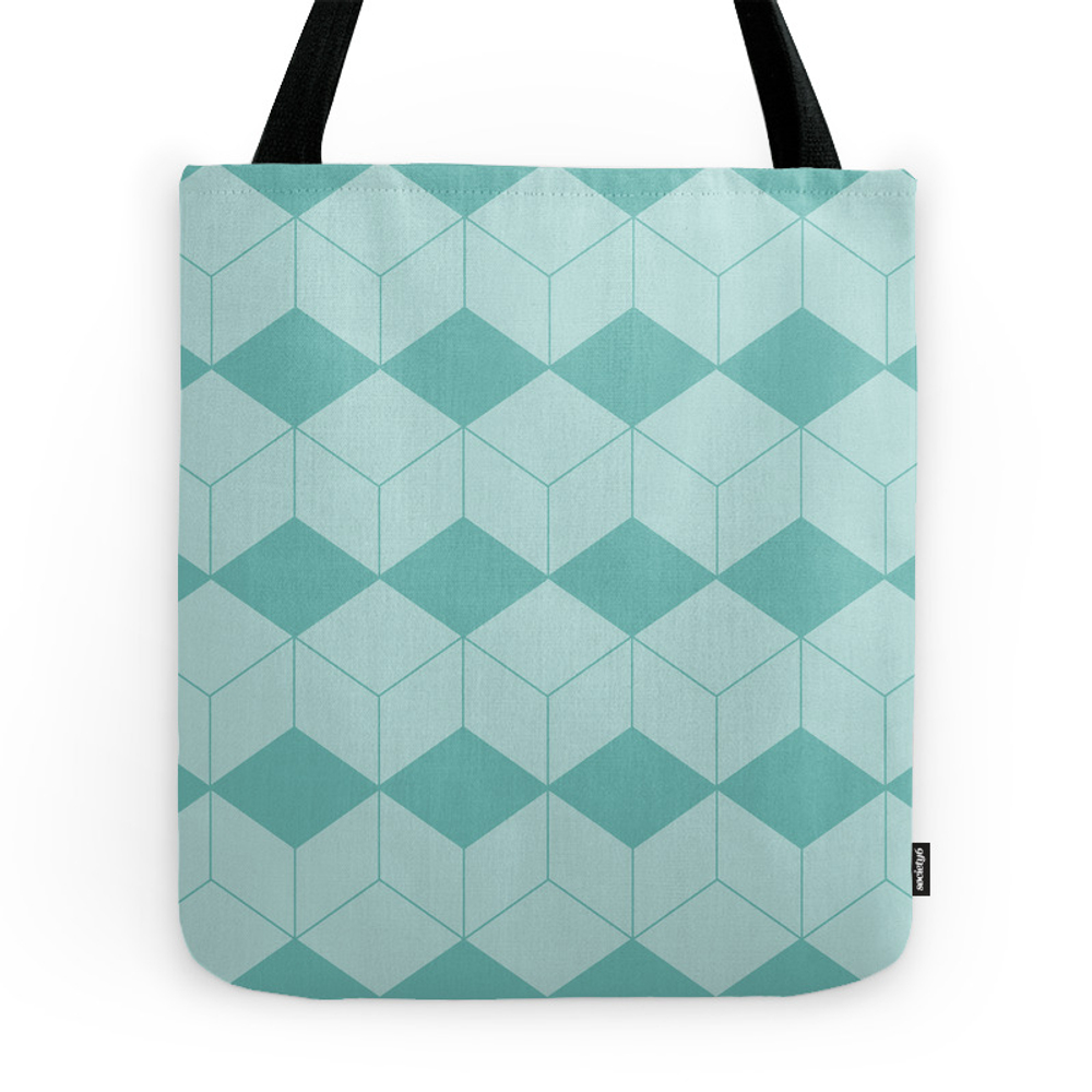 Abstract Pattern - Green. Tote Purse by kerenshiker (TBG7589001) photo
