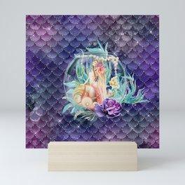 Mermaid in a Fish Bowl Mini Art Print