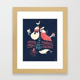 Smooth seas Framed Art Print