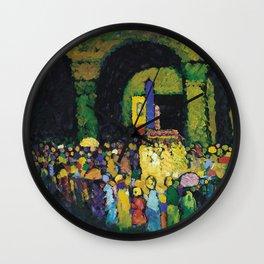 Wassily Kandinsky - The Ludwigs kirche In Munich Wall Clock