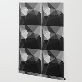 Geometric Black & Grey - Abstract Tonal Art by Fluid Nature Wallpaper