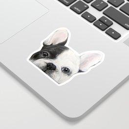 French Bulldog Dog illustration original painting print Sticker